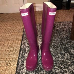 Size 8.5 gently used Hunter rainboots